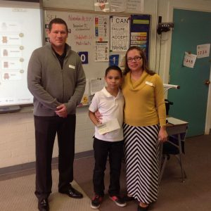Yes! General Manager Lance Fernandez & Dr. Audra Duvall at Victoria Fertitta Middle School